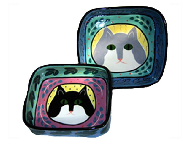 Square Cat Bowls