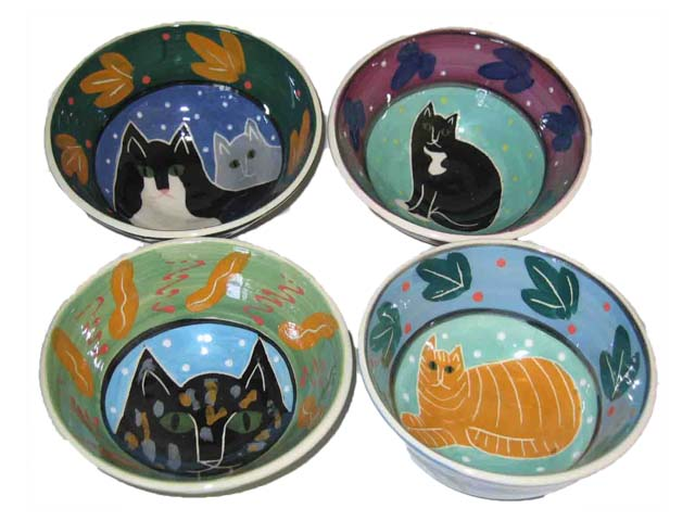 Cereal Cat Bowls